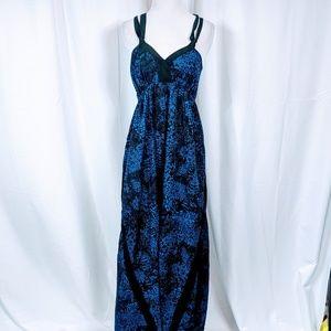 Express Black and Blue Maxi Dress